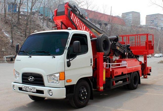 Автовышка Hyundai подъемник