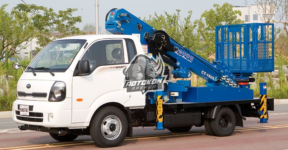 Автовышка 12 метров KIA Телескоп