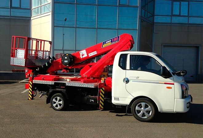 Автовышка Hyundai Телескоп Грузоподъёмность 250 кг