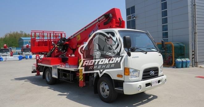 Аренда автовышки 32 метра Hyundai