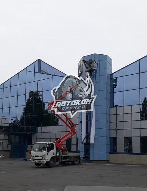 Монтаж рекламных конструкций