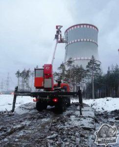 Высотные работы автовышки в СПб
